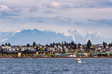 A view of the City of Everett from the Puget Sound Fototapete