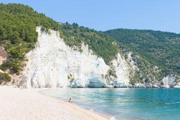 Vignanotica, Apulia - Relaxing at the calm beach of Vignanotica