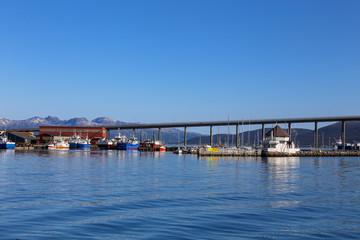 Bridge and fishing harbor