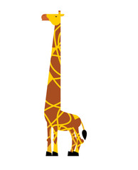 Giraffe isolated. Savannah Animal. Wild beast Vector illustration