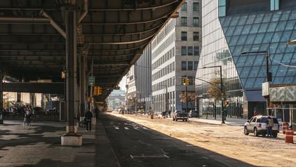 New York, USA / Under the bridge, FDR Drive, Lower East Side Fotomurales
