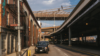New York, USA / Under the bridge, FDR Drive, Lower East Side