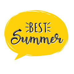 Best Summer. Creative graphic vector lettering