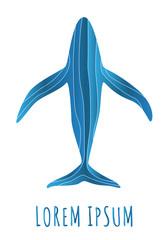 Abstract whale logo deign