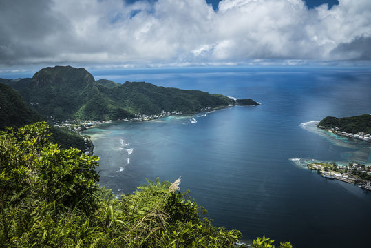 Pago Pago American Samoa Hill View over the Island