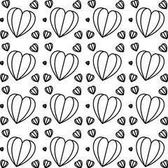 hearts love pattern background vector illustration design