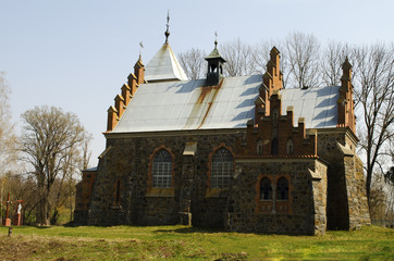 old church in the gothic style