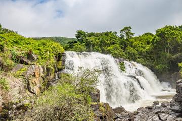 Pocos de Caldas, Minas Gerias/Brazil. Waterfall veil brides