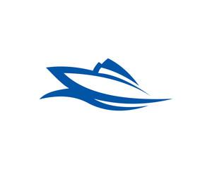 boat ship sea sailing vector logo