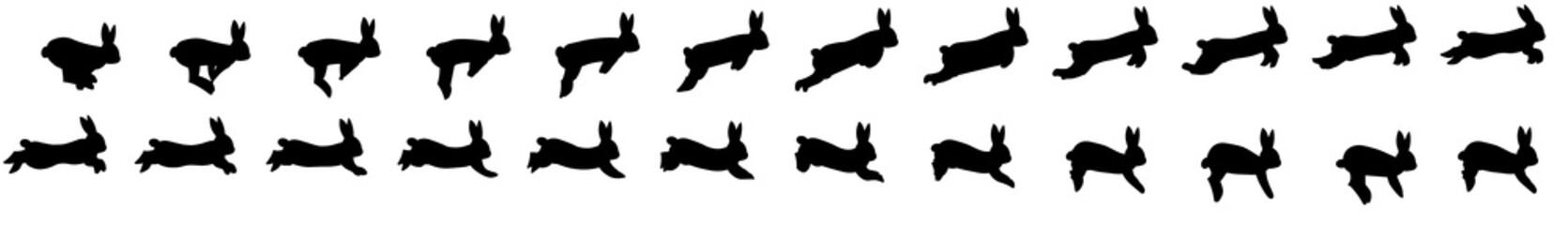 Rabbit run cycle animation spritesheet