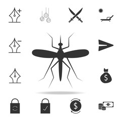 Mosquito icon. Detailed set of web icons and signs. Premium graphic design. One of the collection icons for websites, web design, mobile app