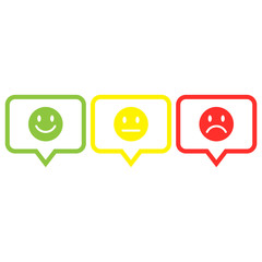 smile,straight, sad face icon button outline vector