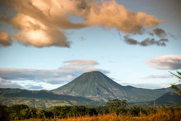 Poster Mexico The Chingo Volcano viewed near the border of Guatemala from El Salvador