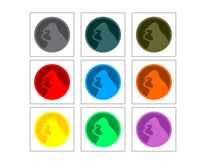 ape gorilla monkey primate chimpanzee image vector circle set