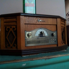 retro radio vintage and old of wood