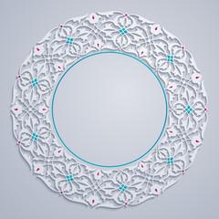 arabic pattern floral circle ornament