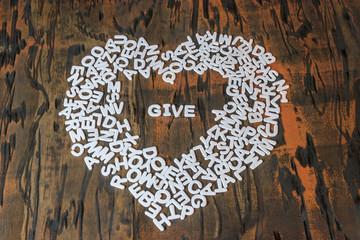 word give inside heart