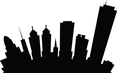 Cartoon skyline silhouette of the city of Buffalo, New York, USA.