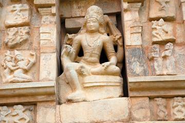 Shiva as Madanantaka burning Manmatha, niche on the northern wall, Brihadisvara Temple, Gangaikondacholapuram, Tamil Nadu