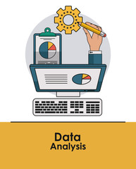 Data analysis concept with elements vector illustration graphic design