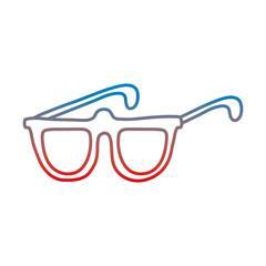 degraded line glasses frame style optical object