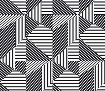 complex geometric stripes seamless pattern.