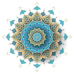 Arabic floral pattern islamic vector background