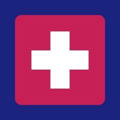 Vector cross medical symbol
