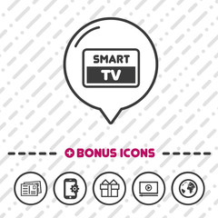 Smart TV Screen icon. Full HD symbol.