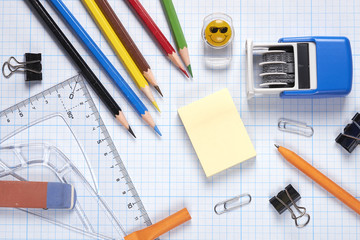 stationery, school, office, Accounting, ruler, pencil, paper clips, business