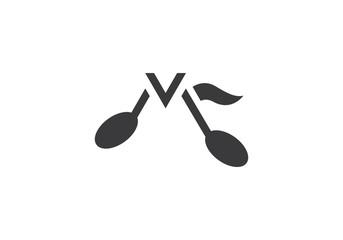 Music note Icon logo  Vector
