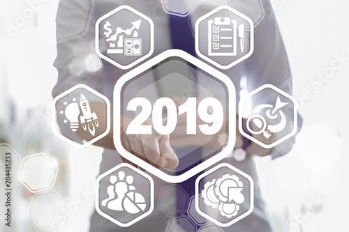 U0026quot 2019 Business Strategy Concept  Two Thousand Nineteenth Year Strategic Plan Finance Web