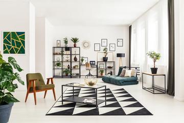Geometric open space interior
