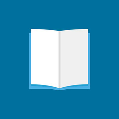 Open book sign or icon in flat style