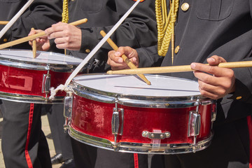the drum of a military band