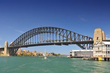 Printed roller blinds Australia Sydney Harbour Bridge view from ferry, Sydney, Australia.
