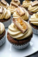 Schoko Erdnuss Cupcake