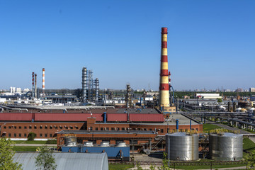 Industrial district, area, factory, manufacturing, and energy. Moscow. Kapotnya