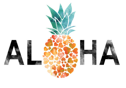 pineapple graphic with slogan