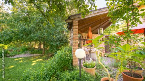 Garten Terrasse Im Mediterranen Stil Stock Photo And Royalty Free