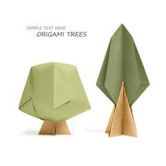 Origami paper tree