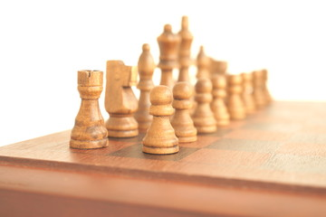 The chess game, board, figures.
