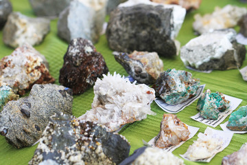 different mineral gems collection as nice background