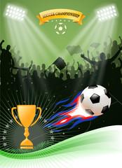soccer championship fire