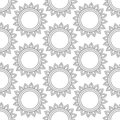 Abstract vintage seamless background with mandala ornaments.