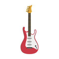 Vector illustration of an Electric guitar in cartoon style isolated on white background