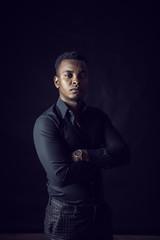 Man black shirt