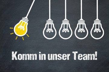 Komm in unser Team! / Lampen / Konzept