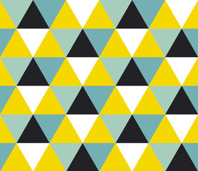 Bright geometric background seamless pattern.