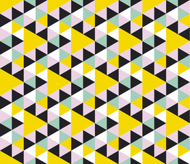 Summer color geometric seamless pattern.